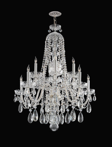 Crystorama Hand Cut Crystal Chandelier 5 Lights - Polished Chrome - 1110-CH-CL-MWP - PeazzLighting