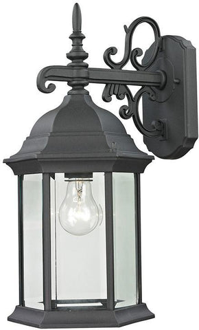 Cornerstone 8601EW/65 Spring Lake 1 Light Exterior Coach Lantern In Matte Textured Black - PeazzLighting