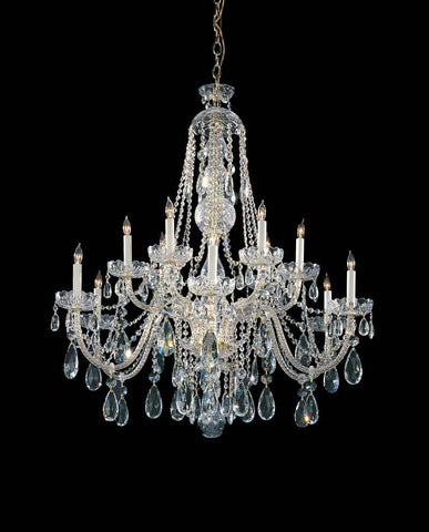 Crystorama Hand Cut Crystal Chandelier 6 Lights - Polished Brass - 1112-PB-CL-MWP - PeazzLighting
