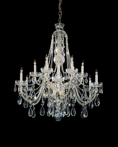 Crystorama Swarovski Elements Crystal Chandelier 6 Lights - Polished Brass - 1112-PB-CL-S - PeazzLighting