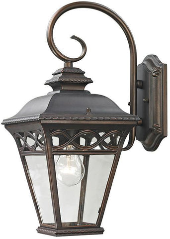 Cornerstone 8501EW/70 Mendham 1 Light Exterior Coach Lantern In Hazelnut Bronze - PeazzLighting
