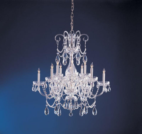 Crystorama Crystal chandelier with Clear Swarovski Elements crystal 6 Lights - Polished Chrome - 1035-CH-CL-S - PeazzLighting
