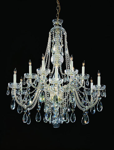 Crystorama Swarovski Spectra Crystal Chandelier 6 Lights - Polished Chrome - 1112-CH-CL-SAQ - PeazzLighting