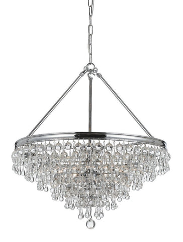 Crystorama Chandelier with Clear smooth glass balls accents with Polished Chrome finish on a solid brass frame. 6 Lights - Polished Chrome - 136-CH - PeazzLighting