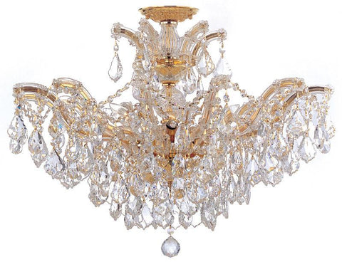 Crystorama Maria Theresa Chandelier Draped in Clear Hand Cut Crystal 6 Lights - Polished Gold - 4439-GD-CL-MWP - PeazzLighting