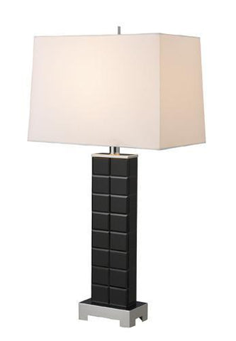 Dimond D1414 Lemoyne Table Lamp In Black Mirror And Chrome With Milano Pure White Shade - PeazzLighting