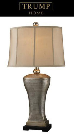 Dimond D1431 Lexington Avenue Table Lamp In Silver Lake With Bangor Beige Shade And Light Taupe Liner - PeazzLighting