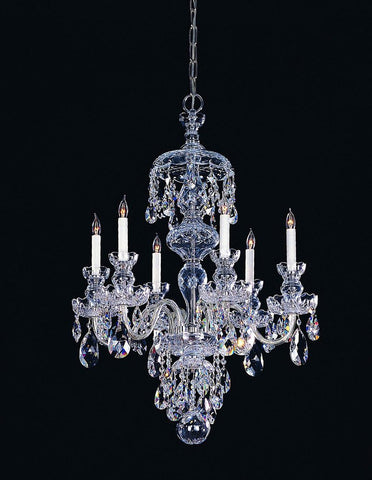Crystorama Swarovski Elements Crystal Chandelier 6 Lights - Polished Chrome - 1146-CH-CL-S - PeazzLighting