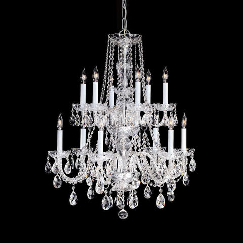 Crystorama Swarovski Spectra Crystal Chandelier 6 Lights - Polished Chrome - 1137-CH-CL-SAQ - PeazzLighting