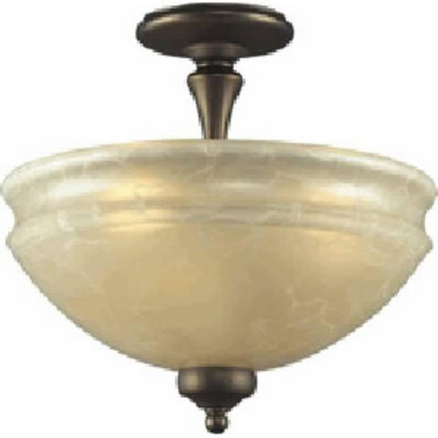 Z-Lite Stershire Collection Olde Bronze Finish Three Light Semi Flush Mount - ZLiteStore