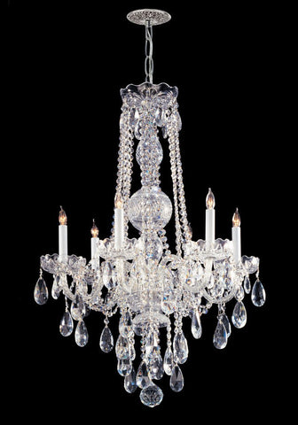 Crystorama Swarovski Spectra Crystal Chandelier 6 Lights - Polished Chrome - 1106-CH-CL-SAQ - PeazzLighting