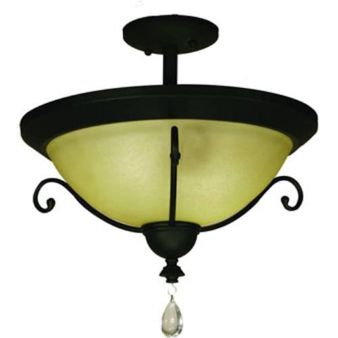 Z-Lite Provence Collection Black Finish Two Light Ceiling - ZLiteStore