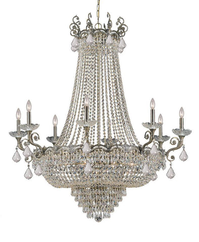 Crystorama Sold Cast Brass Ornate Crystal Chandelier 8 Lights - Historic Brass - 1488-HB-CL-MWP - PeazzLighting