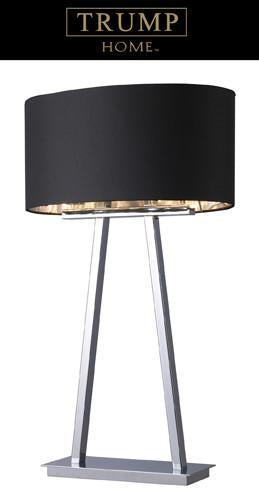 Chrome | Silver | Liner | Shade | Table | Light | Black | Oval | Lamp