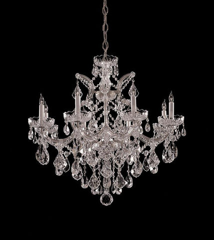 Crystorama Maria Theresa Chandelier Draped in Hand Cut Crystal 8 Lights - Polished Chrome - 4409-CH-CL-MWP - PeazzLighting