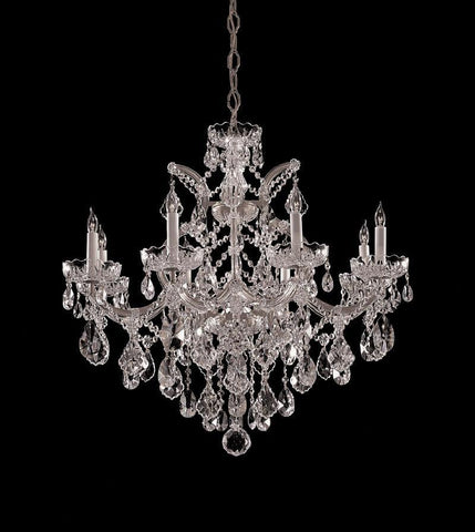 Crystorama Maria Theresa Chandelier Draped in Swarovski Elements Crystal 8 Lights - Polished Chrome - 4409-CH-CL-S - PeazzLighting