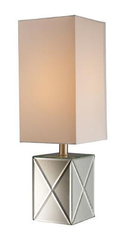 Dimond D1492 Ozwayo Mirrored Accent Lamp With Milano Pure White Shade - PeazzLighting
