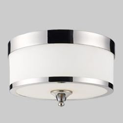Z-Lite Cosmopolitan Collection Chrome Finish Three Light Flush Mount - ZLiteStore