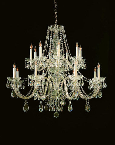 Crystorama Swarovski Elements Crystal Chandelier 8 Lights - Polished Brass - 1139-PB-CL-S - PeazzLighting