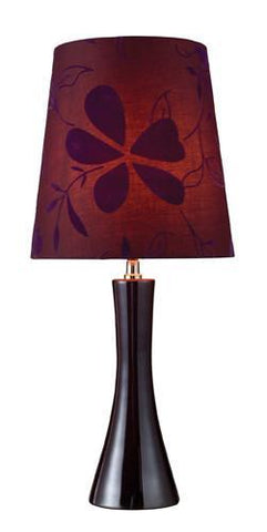 Dimond D1591 Cressona Table Lamp In Blackberry With Floral Purple Shade And Purple Liner - PeazzLighting