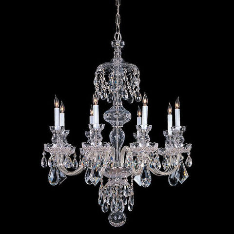 Crystorama Hand Cut Crystal Wall Sconce 8 Lights - Polished Chrome - 1148-CH-CL-MWP - PeazzLighting
