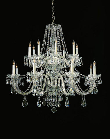 Crystorama Hand Cut Crystal Chandelier 8 Lights - Polished Chrome - 1139-CH-CL-MWP - PeazzLighting