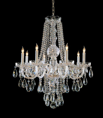 Crystorama Swarovski Elements Crystal Chandelier 8 Lights - Polished Chrome - 1108-CH-CL-S - PeazzLighting