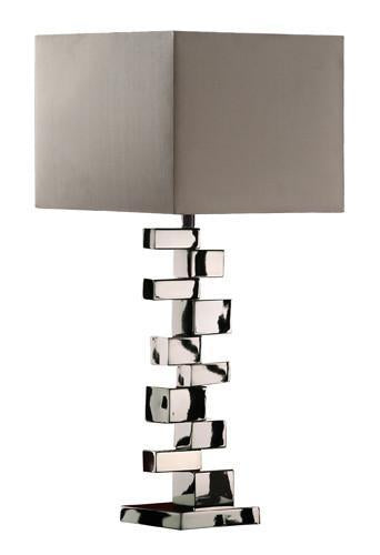 Chrome | Shade | Table | Lamp | Grey