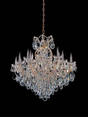 Crystorama Maria Theresa Chandelier Draped in Hand Cut Crystal 18 Lights - Gold - 4418-GD-CL-MWP - PeazzLighting