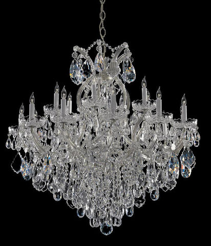 Crystorama Maria Theresa Chandelier Draped in Swarovski Spectra Crystal 18 Lights - Polished Chrome - 4418-CH-CL-SAQ - PeazzLighting