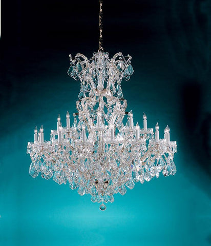 Crystorama Maria Theresa Chandelier Draped in Swarovski Elements Crystal 24 Lights - Polished Chrome - 4424-CH-CL-S - PeazzLighting