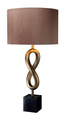 Rubbed   Bronze   Silver   Taupe   Shade   Brass   Solid   Table   Silk   Lamp   Faux   Oil