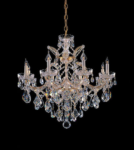 Crystorama 4409-GD-CL-MWP 8-Lights Maria Theresa Chandelier Draped In Hand Cut Crystal - Gold - PeazzLighting
