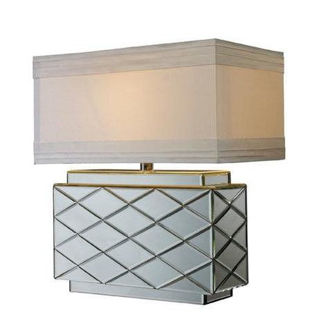 Dimond D1835 Wellsville Table Lamp In Mirror Finish With Milano Pure White Shade And Silver Foil Liner - PeazzLighting
