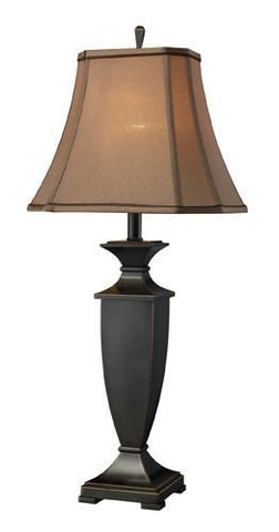 Dimond D1861 Ashville Table Lamp In Oil Rubbed Bronze With Taupe Faux Silk Shade And Light Taupe Liner - PeazzLighting