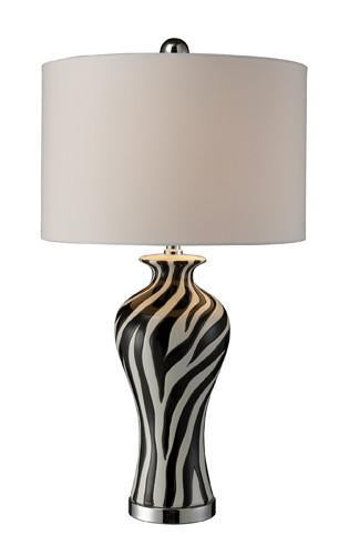 Chrome | Liner | Shade | Table | White | Silk | Lamp | Faux
