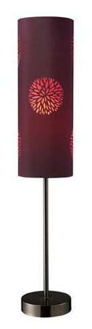 Dimond D1895 Vienna Table Lamp In Black Chrome With Plum Laser Cut Faux Silk Shade With Cerise Underlay - PeazzLighting