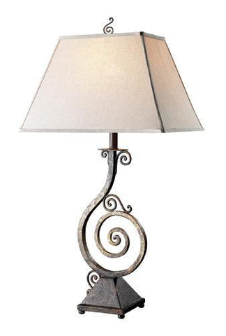 Dimond D1982 Biscayne Table Lamp In Burnt Copper With Natural Linen Shade And Cream Liner - PeazzLighting