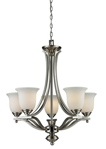 Z-Lite 704-5-bn Lagoon Collection 5 Light Chandelier - ZLiteStore