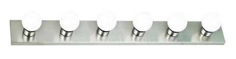 Design House 519314 Strip Light 6Lt Satin Nickel - PeazzLighting