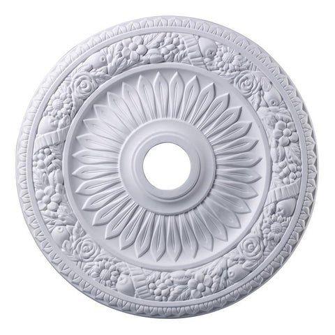 ELK Lighting Floral Wreath Floral Wreath Medallion 24 Inch In White Finish - M1006WH - Peazz.com