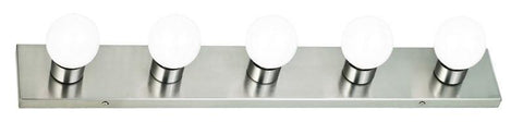 Design House 519306 Strip Light 5Lt Satin Nickel - PeazzLighting