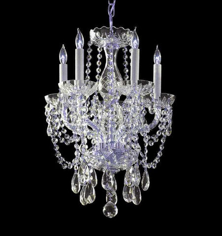 Crystorama 1129-CH-CL-SAQ Traditional Crystal 5 Light Spectra Crystal Mini Chandelier - PeazzLighting