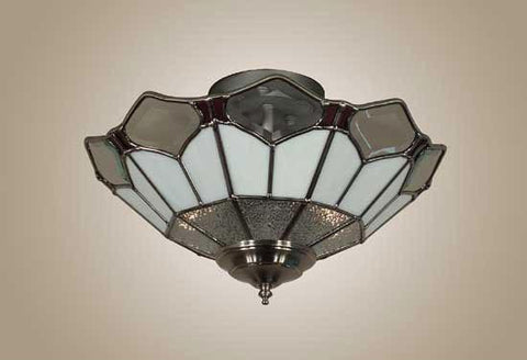 Z-Lite Rosewater Collection Pewter Finish 3 Light Semi Flush Mount - ZLiteStore