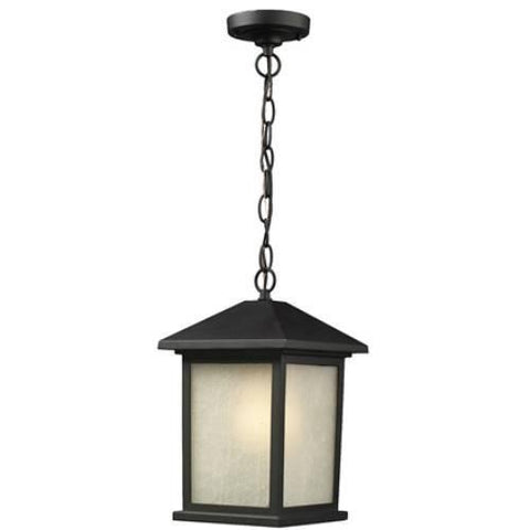 Z-Lite Holbrook Collection Black Finish Outdoor Chain Light - ZLiteStore