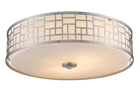 Z-Lite 330F20-BN 3 Light Flush Mount - ZLiteStore