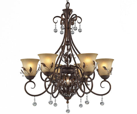 Z-Lite Coventry Collection Antique Gold Finish Seven Light Chandelier - ZLiteStore
