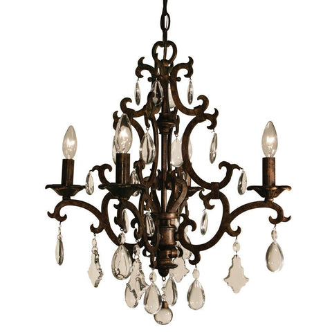Z-Lite Santa Maria Collection Mayan Gold Finish Four Light Chandelier - ZLiteStore
