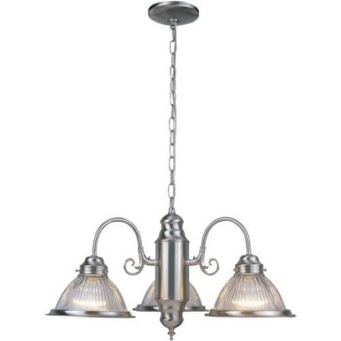 Z-Lite Lexington Collection Brushed Nickel Finish Three Light Chandelier - ZLiteStore