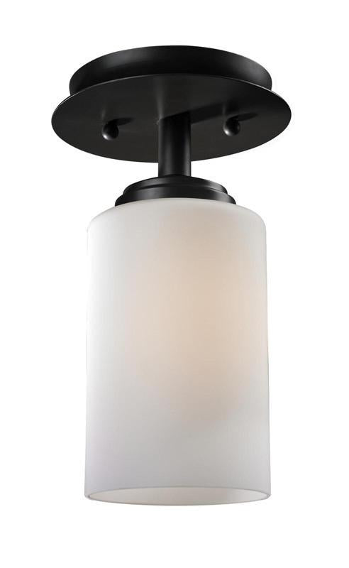 Collection   Rubbed   Bronze   Finish   Flush   Mount   Light   Oil